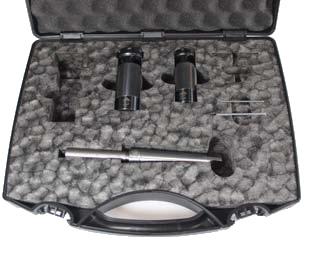 Držák ZKC s délkovým vyrovnáním a stupnicí s uvedením hloubky - sada (plastový kufr)