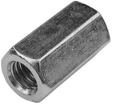 Matice prodlužovací (spojovací) šestihranné DIN 6334 zinkované