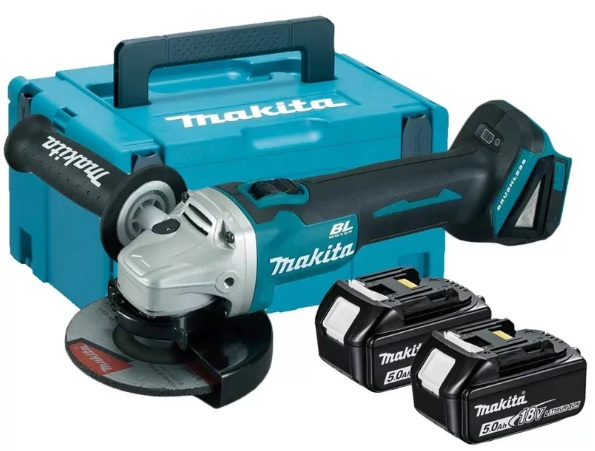 Makita DGA506RTJ Úhlová bruska 125mm, Li-Ion 18V/5,0Ah