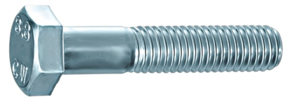 Šroub se šestihrannou hlavou a částečným závitem DIN 931 pevnost 8.8 pozinkovaný