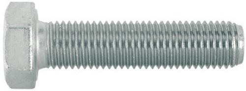 Šroub se šestihrannou hlavou, jemným a celým závitem DIN 961 pevnost 8.8 pozinkovaný