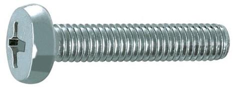 Šroub s půlkulatou hlavou a drážkou phillips DIN 7985 pozinkovaný