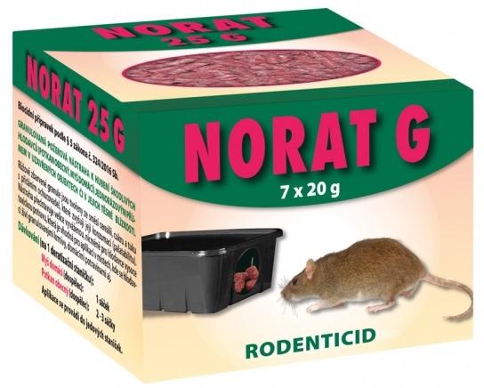 Rodenticid NORAT 25 G granule 7x20g