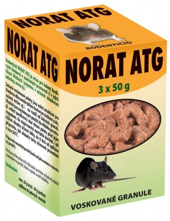 Rodenticid NORAT ATG 3x50g
