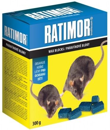 Rodenticid RATIMOR parafínové bloky 300g