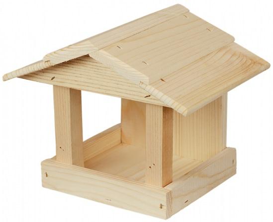 Krmítko dřevěné okenní přírodní 24x19x19 cm