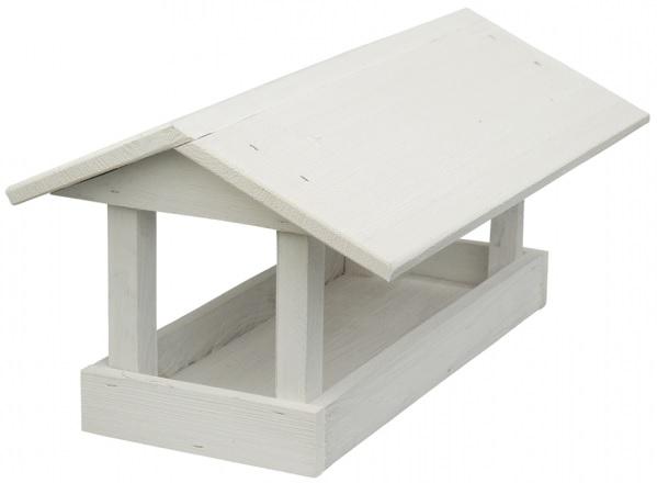 Krmítko dřevěné bílé 24x40x20 cm