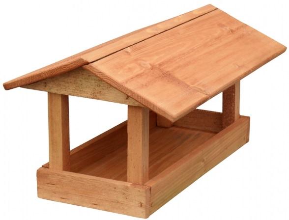 Krmítko dřevěné hnědé 24x40x20 cm