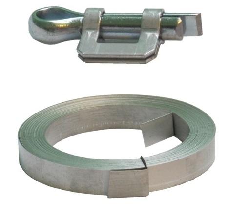 Závlačkové spony a upínací pásky na hadice