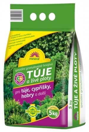 Hnojivo Mineral na túje a živé ploty 5 kg