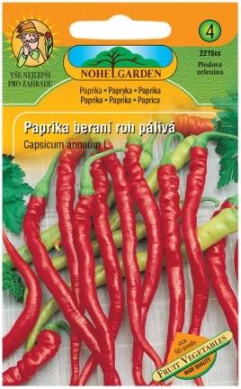Paprika zeleninová typ beraní roh PÁLIVÁ
