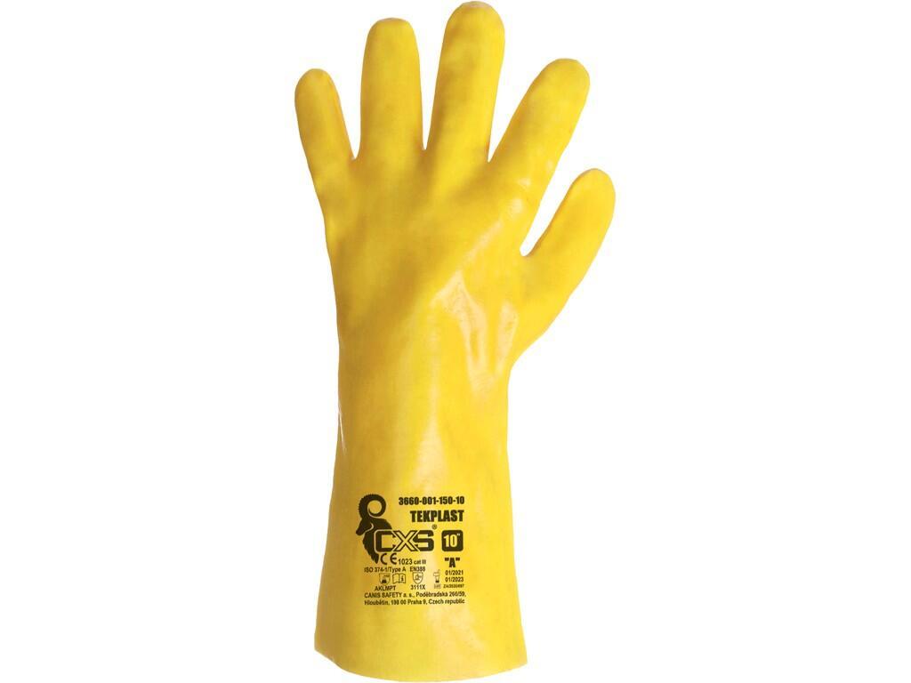 CXS TEKPLAST rukavice kyselinovzdorné