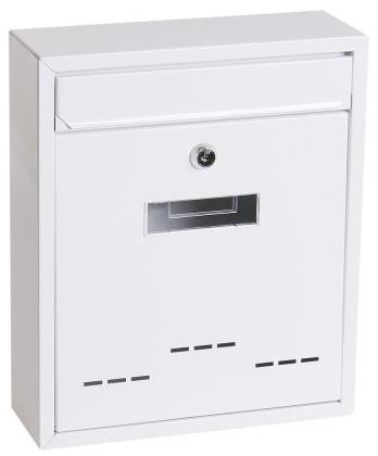 Poštovní schránka bílá 31x26x9 cm