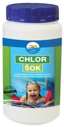 Chlor šok dezinfekce do bazénu 1,2 kg
