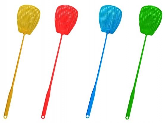 Plácačka na mouchy BROS plastová mix barev