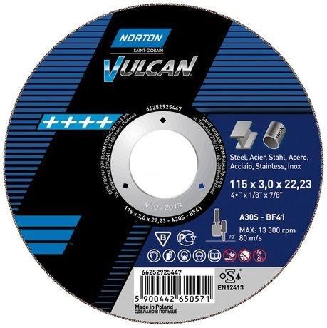 Kotouč řezný 230 x 2.0 x 22.2; na nerez a ocel; rovný T41, A30S, NORTON Vulcan