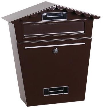 Poštovní schránka hnědá se stříškou 36x29x10,5 cm