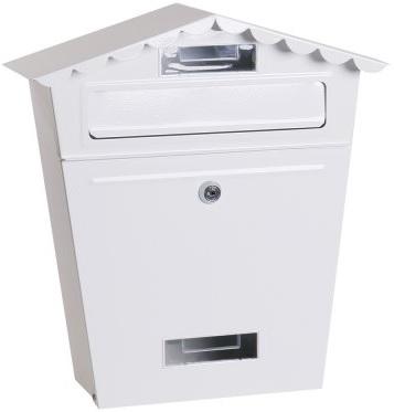 Poštovní schránka bílá se stříškou 36x29x10,5 cm