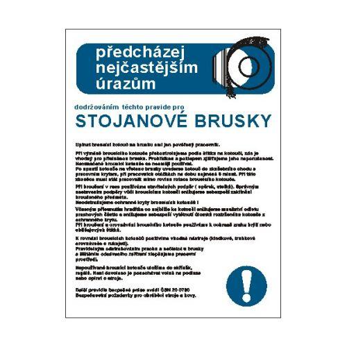 Pravidla bezpečné práce pro stojanové brusky