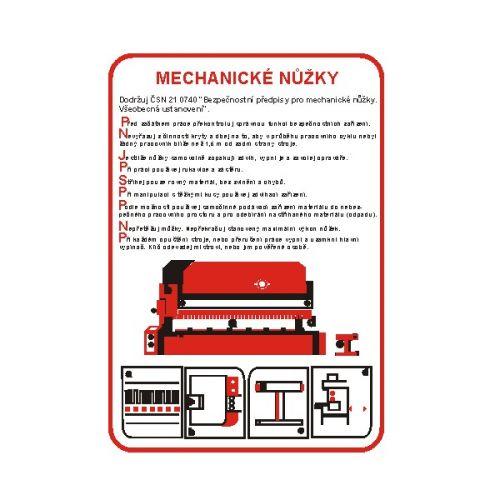 Pravidla bezpečné práce pro mechanické nůžky