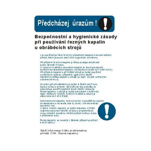 Bezpeč. a hyg.zásady při používání řezných kapal. u obráb.strojů