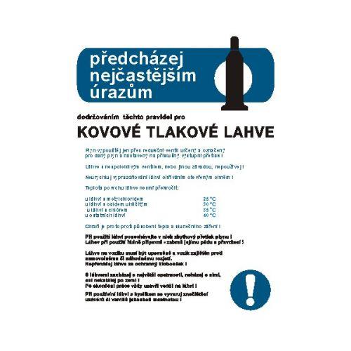 Pravidla bezpeč.práce pro kovové tlak.lahve na plyny