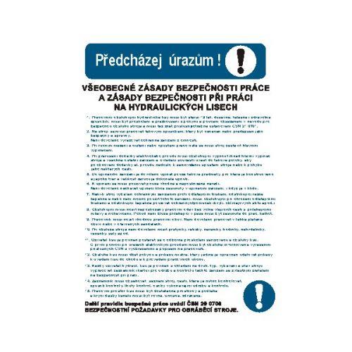 Všeob.zásady bezpeč.práce na hydraulických lisech