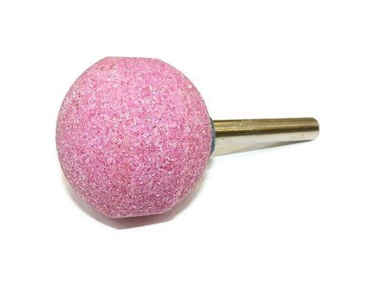 Brusná tělíska kulová - světle růžový korund s keramickým pojivem