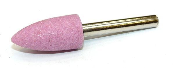 Brusná tělíska ogivální - světle růžový korund s keramickým pojivem
