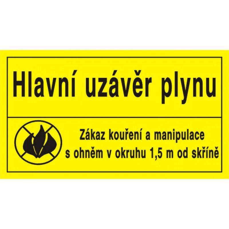 Hl.uzávěr plynu/Zák.kouření a man. s ohněm ...
