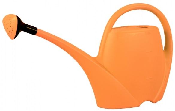 Konvička SPRING s růžicí plastová oranžová 2,5 l