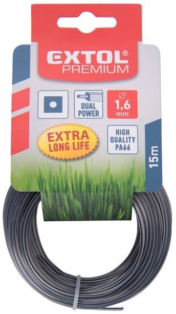 Extol Premium Struna žací do sekačky s jádrem 1,6/15m, čtverec (8870912)