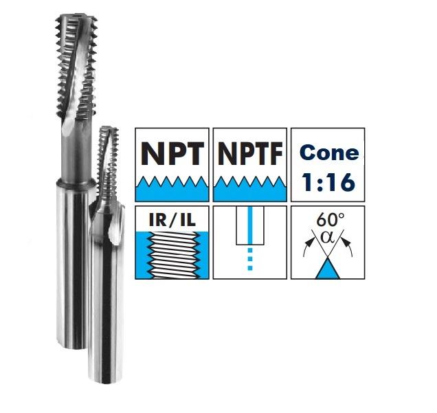 Fréza závitová TK - NPT