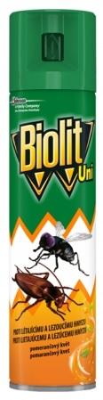 Sprej BIOLIT UNI proti létajícímu a lezoucímu hmyzu s vůní pomeranče 400ml