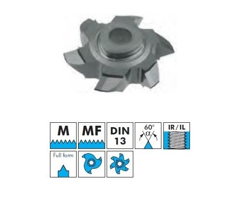 VBD pro frézování vnitřního závitu - M, MF, plný závit