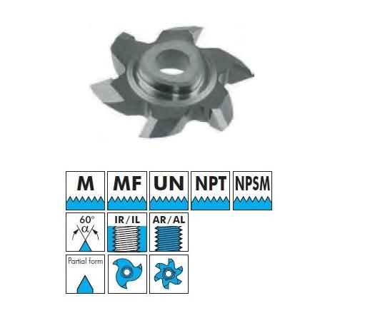 VBD pro frézování vnitřního a vnějšího závitu - M, MF, UN, NPT, NPSM částečný závit