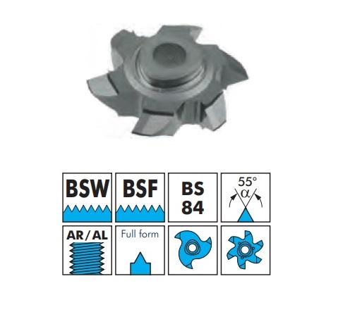 VBD pro frézování vnějšího závitu - BSW, BSF, plný závit