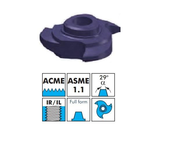VBD pro frézování vnitřního závitu - ACME, plný závit