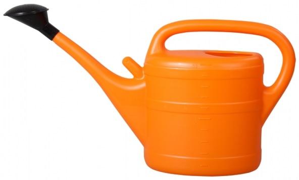 Konev s růžicí plastová oranžová 10l