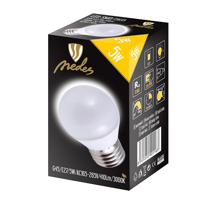 NEDES ZLS817 LED 5W-G45 E27 SMD 3000K