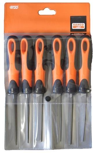 BAHCO Sada 6 ks zámečnických pilníků (1-476-04-3-2)