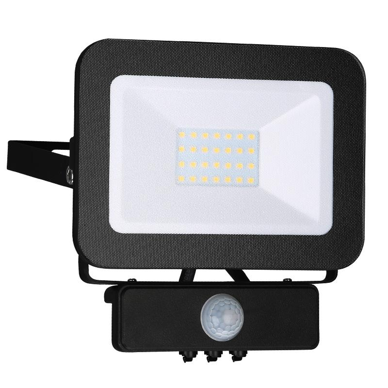 NEDES LF2022S LED HQ reflektor 20W+PIR IP65 senzor 4000K BK PS