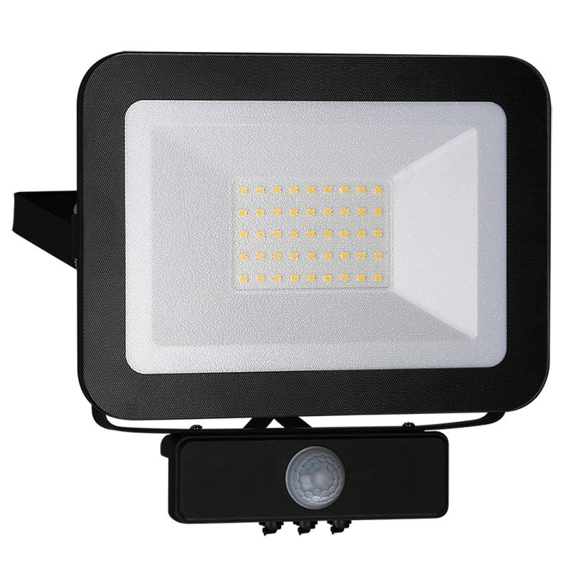 NEDES LF2023S LED HQ reflektor 30W+PIR IP65 senzor 4000K BK PS