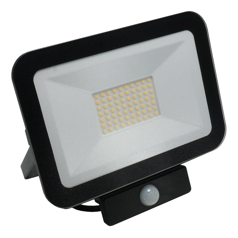 NEDES LF2024S LED HQ reflektor 50W+PIR IP65 senzor 4000K BK PS