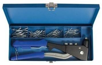 Projahn Kleště nýtovací set v kufru + sada nýtů 2,4-4,8mm (398061)