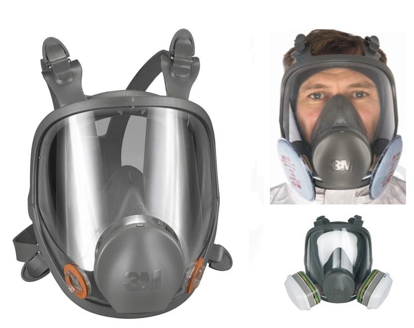 3M 6800 Celoobličejová maska, střední (M)