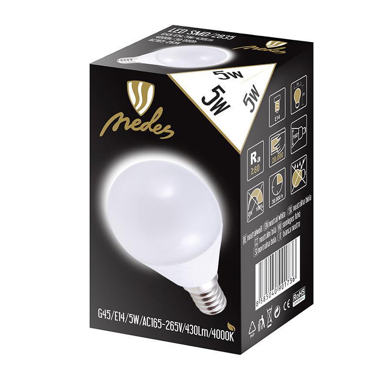 NEDES ZLS822 LED 5W-G45 E14 SMD 4000K