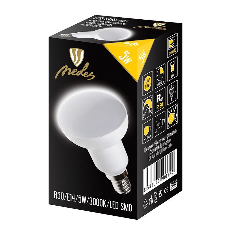 NEDES ZLS213 LED žárovka 5W - R50 E14 SMD 3000K