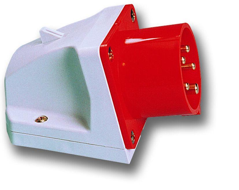 PCE 525-6 přívodka nástěnná 5-pólová, 32A / 400V, 6h, IP44