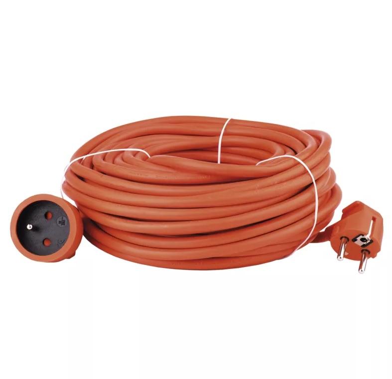 EMOS - Prodlužovací kabel – spojka, 20m, 3x 1,5mm, oranžový